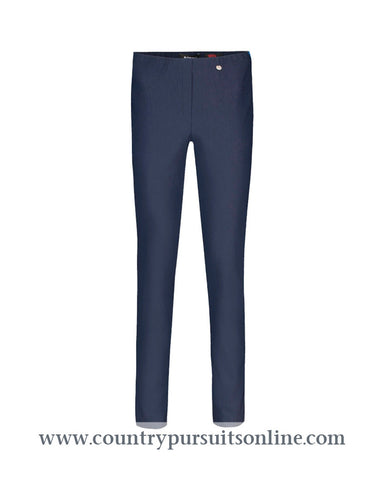 BELLA - NAVY, Bengaline Stretch - Robell Trousers