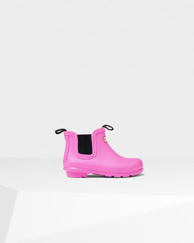 Hunter- Original Kids' Chelsea Boot- Lipstick