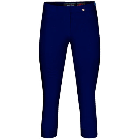 Rose 07, Crop Trouser, Navy- Robell