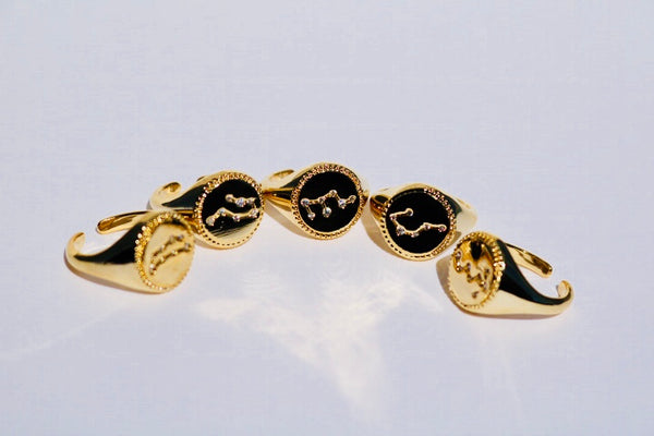 Gold Zodiac Constellation Ring