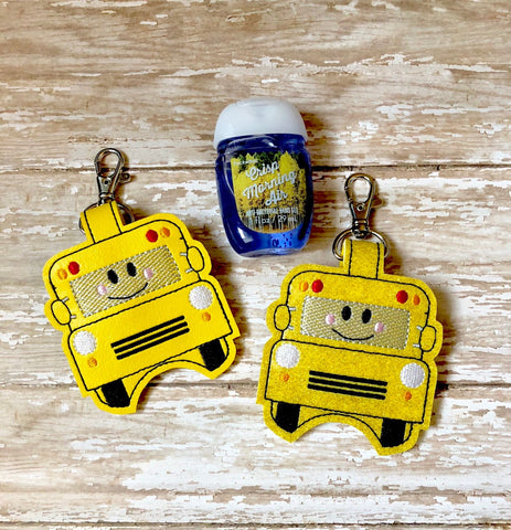 Bus Hand Sanitizer Holder, Hand Sanitizer Keeper, Hand Sanitizer Clip, Hand Sanitizer Keychain, School Bus Hand Sanitizer Holder
