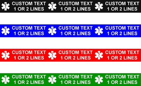 Wristband Tattoos - Custom 1 or 2 lines of text (100 Pack)