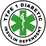 Circle Alert - TYPE 1 DIABETIC INSULIN DEPENDENT