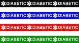 Wristband 4 Sheet- DIABETIC