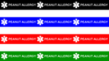 Wristband 4 Sheet- PEANUT ALLERGY