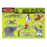 Zoo Animals Sound Puzzle (8 Pieces)