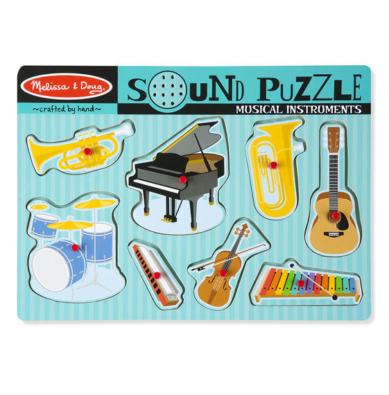 Musical Instruments Sound Puzzle (8 Pieces)