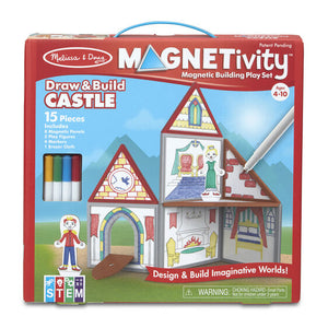 Magnetivity Magnetic Building Play Set - Draw & Build Castle