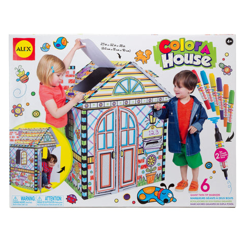 color a house children's kit