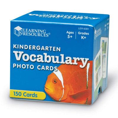 Kindergarten Vocabulary Photo Cards (Set of 150)