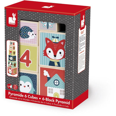 Baby Forest Pyramid Stacking Toy - 6-Block