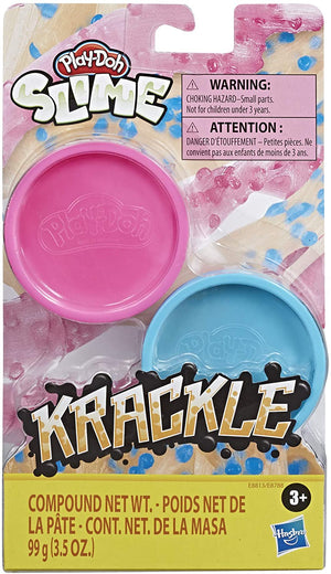 Play-Doh Krackle Slime Pink & Light Blue