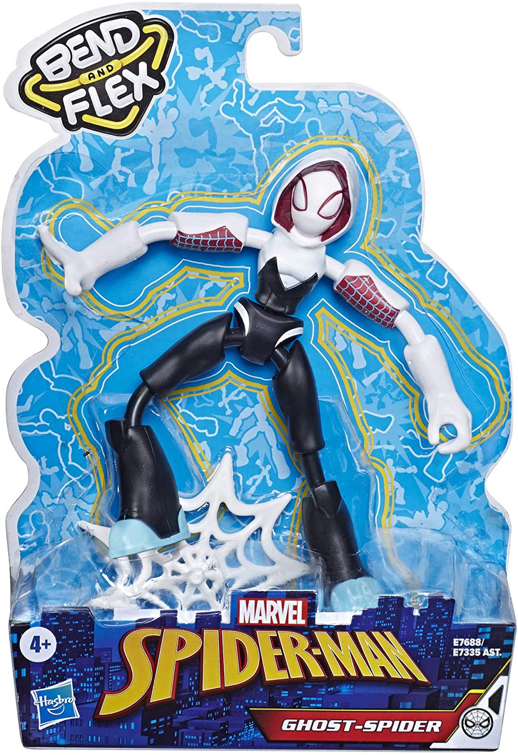 Spider-Man Marvel Bend and Flex Ghost-Spider Action Figure Toy