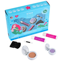 MERMAID STAR - KLEE KIDS NATURAL PRESSED POWDER MINERAL PLAY MAKEUP SET