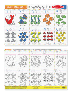 Learning Mat - Numbers 1-10 (Write-A-Mat)