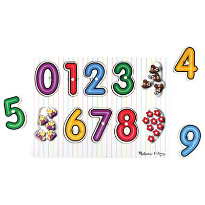 dee-inside numbers peg puzzle - 10 pieces
