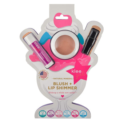 Peachy Pink Delight - Klee Girls Blush and Lip Shimmer set