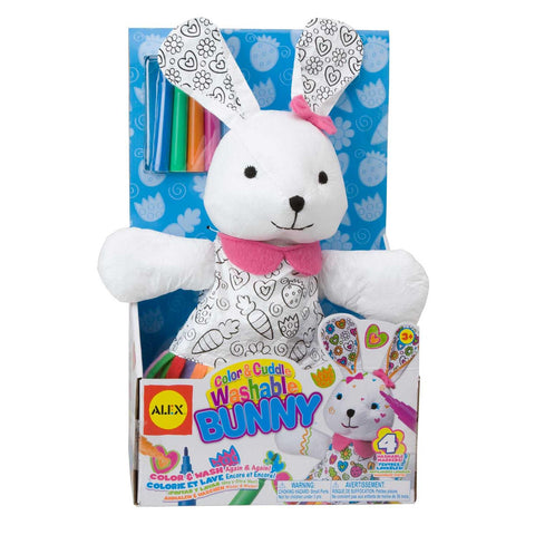 color a cuddle washable bunny
