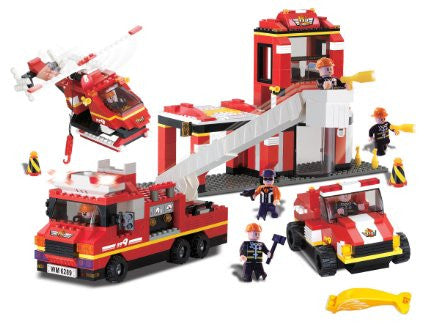 fire station with sound and light