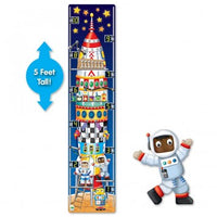 Long & Tall Puzzle 123 Rocket Ship