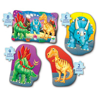My First Puzzle Sets 4-In-A-Box Puzzles - Dino