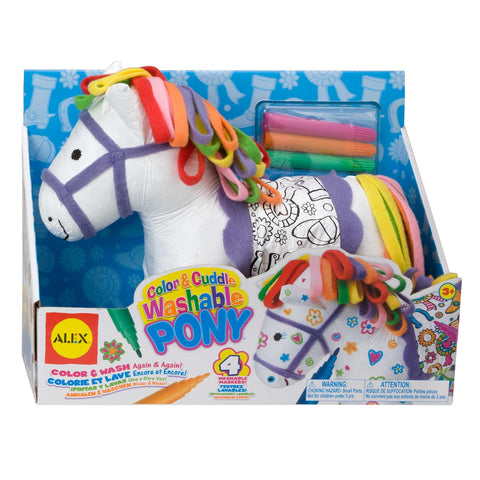 color A cuddle washable pony