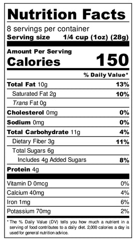 HM80z Nutritional Label