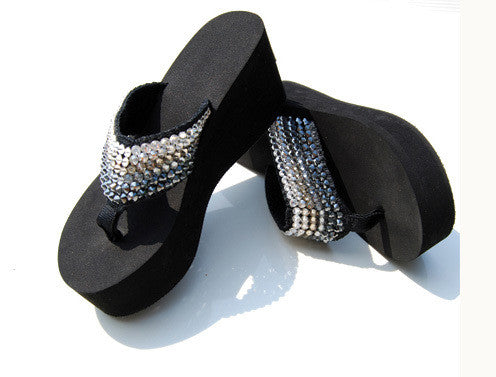 Shoes Crystal Platform -Black Ombre Swarovski Crystal