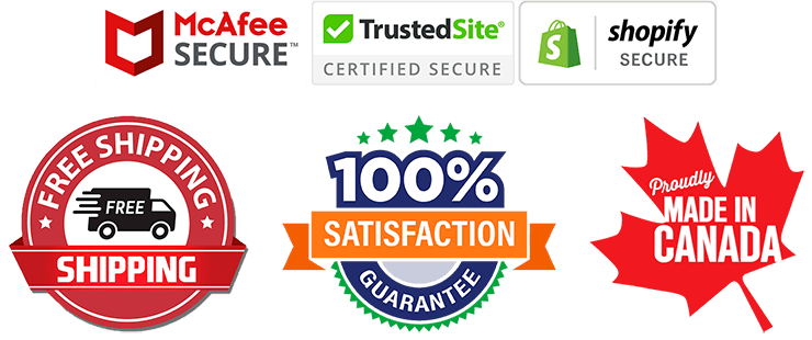 McAfee Secure | TrustedSite | Shopify Secure | 100% Satisfaction Guarantee