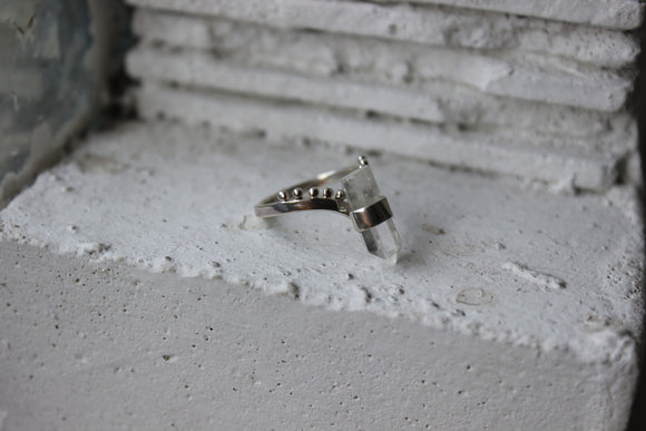 Psych Ring | Clear Quartz