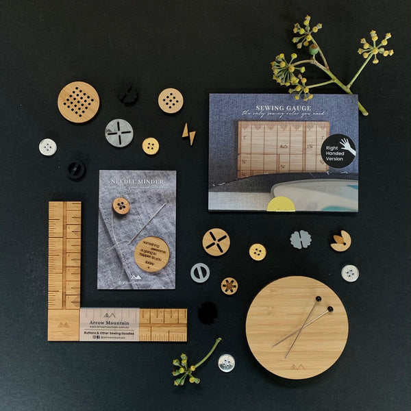 Arrow Mountain Sewing tools and Buttons
