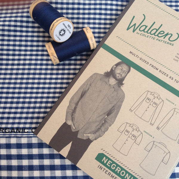 Colette Negroni Men's Shirt Sewing Pattern