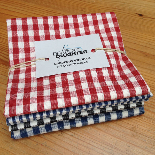Gorgeous Gingham Fat Quarter Bundle in Organic Cotton