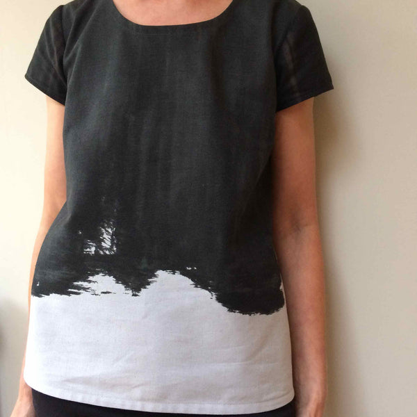 Scout Tee in Kokka Fabrics Brush Paint