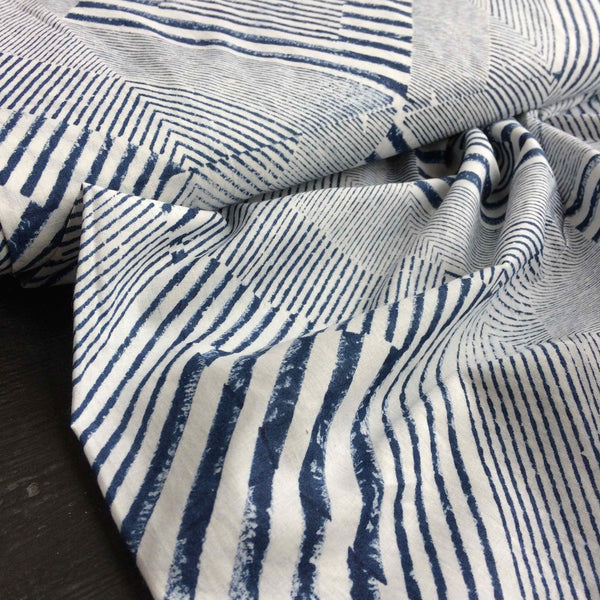 Merchant and Mills Delauney Charcoal Hand Printed Fabric