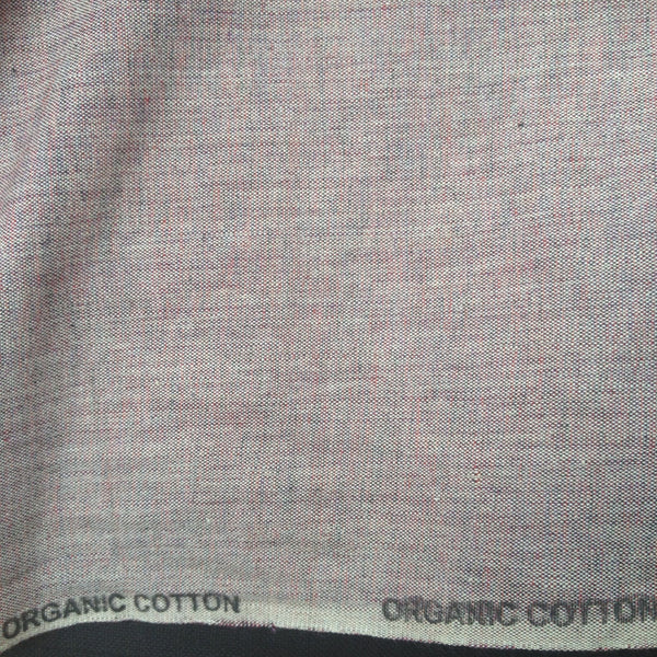 100% Organic Cotton Crossweave in Burgundy Marl | The Draper's Daughter