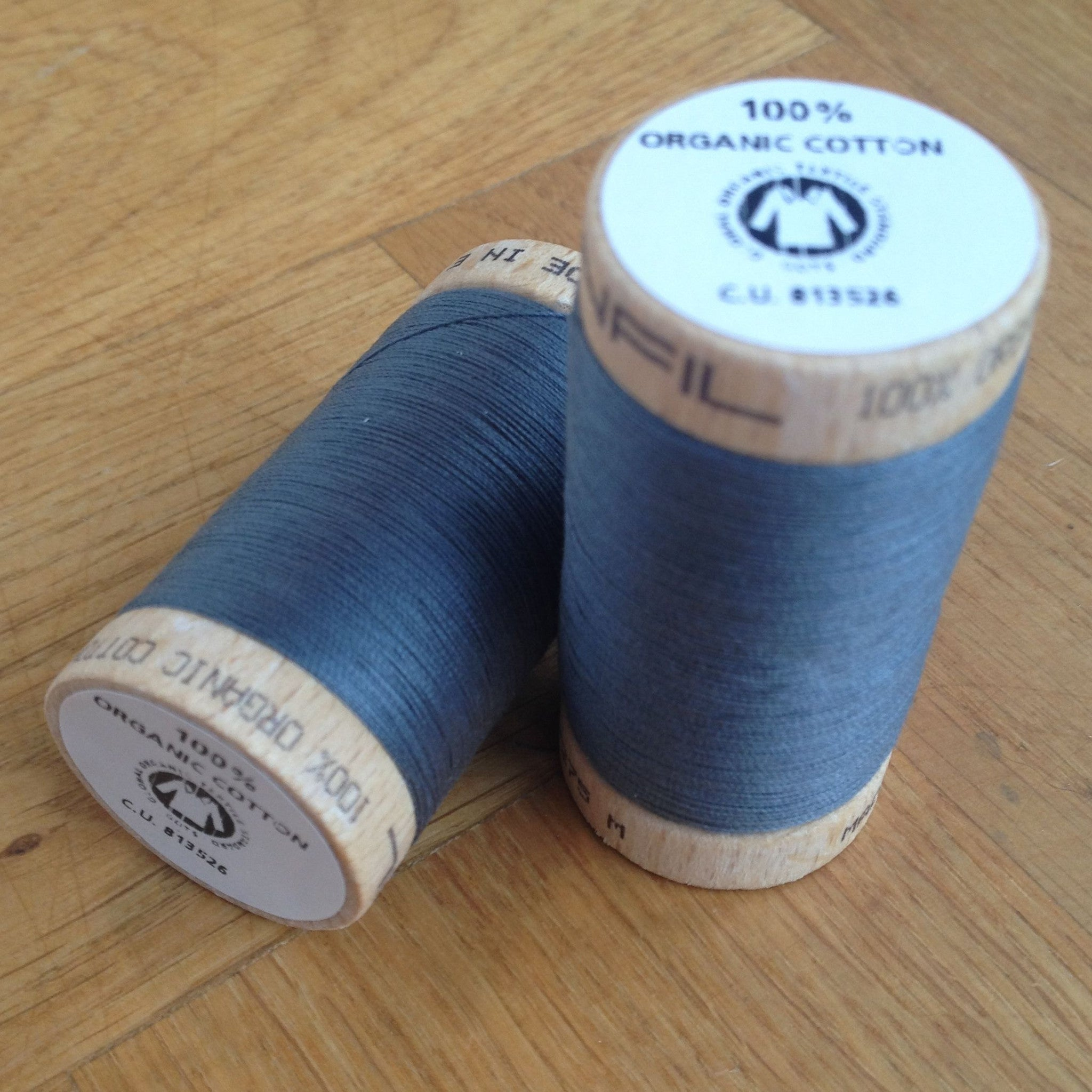 ORGANIC COTTON THREAD • Slate (100 Metres)
