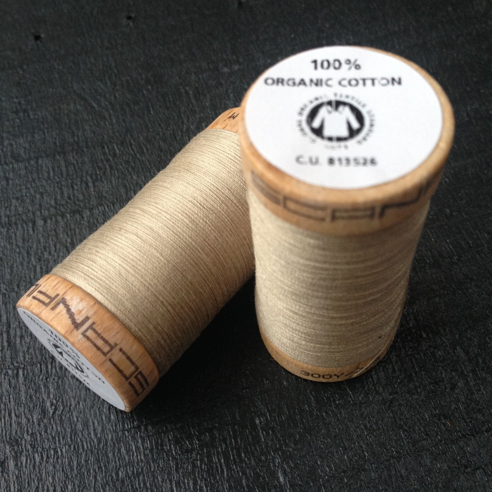 100% Organic Cotton Thread Beige