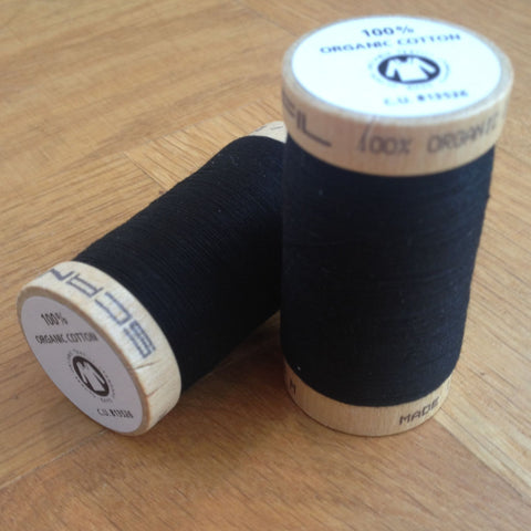 ORGANIC COTTON THREAD • Black (275 Metres)