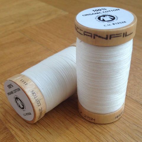 ORGANIC COTTON THREAD • Cream (100 Metres)