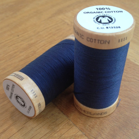 ORGANIC COTTON THREAD • Navy (100 Metres)