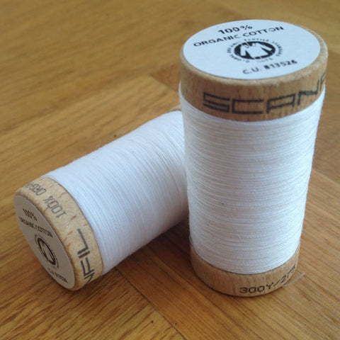 ORGANIC COTTON THREAD • White (100 Metres)