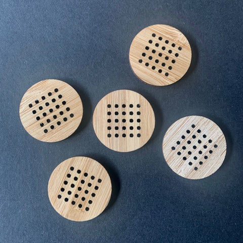 Arrow Mountain Cross Stitch Bamboo  Buttons 30mm