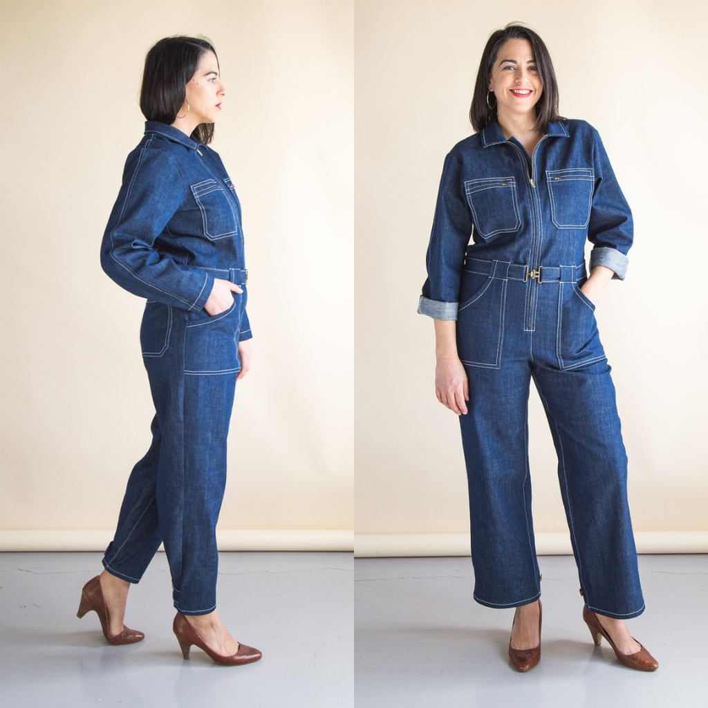 Closet Core Blanca Flight Suit Sewing Pattern