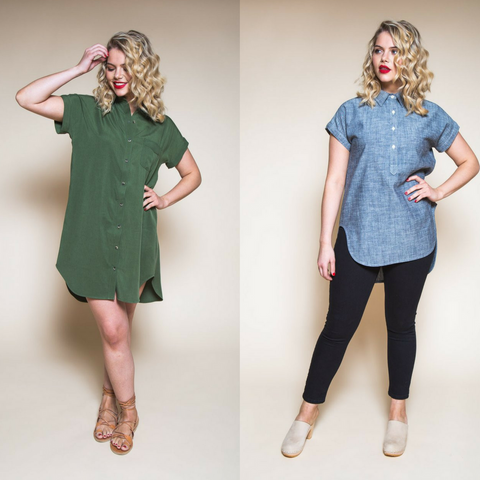 Closet Case Kalle Shirt & Shirtdress Sewing Pattern