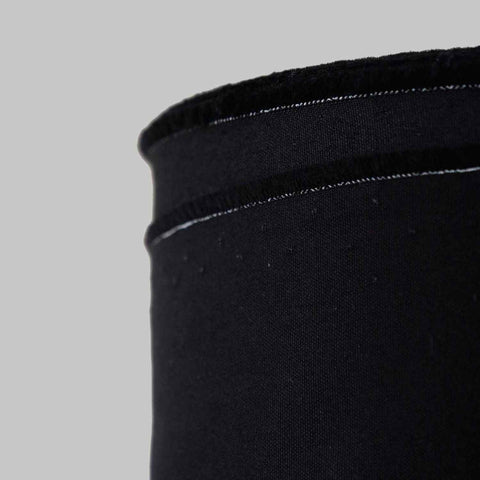 100% Cotton Plain Weave Fabric Black