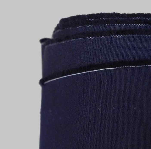 Cotton Plain Weave fabric Dark Navy