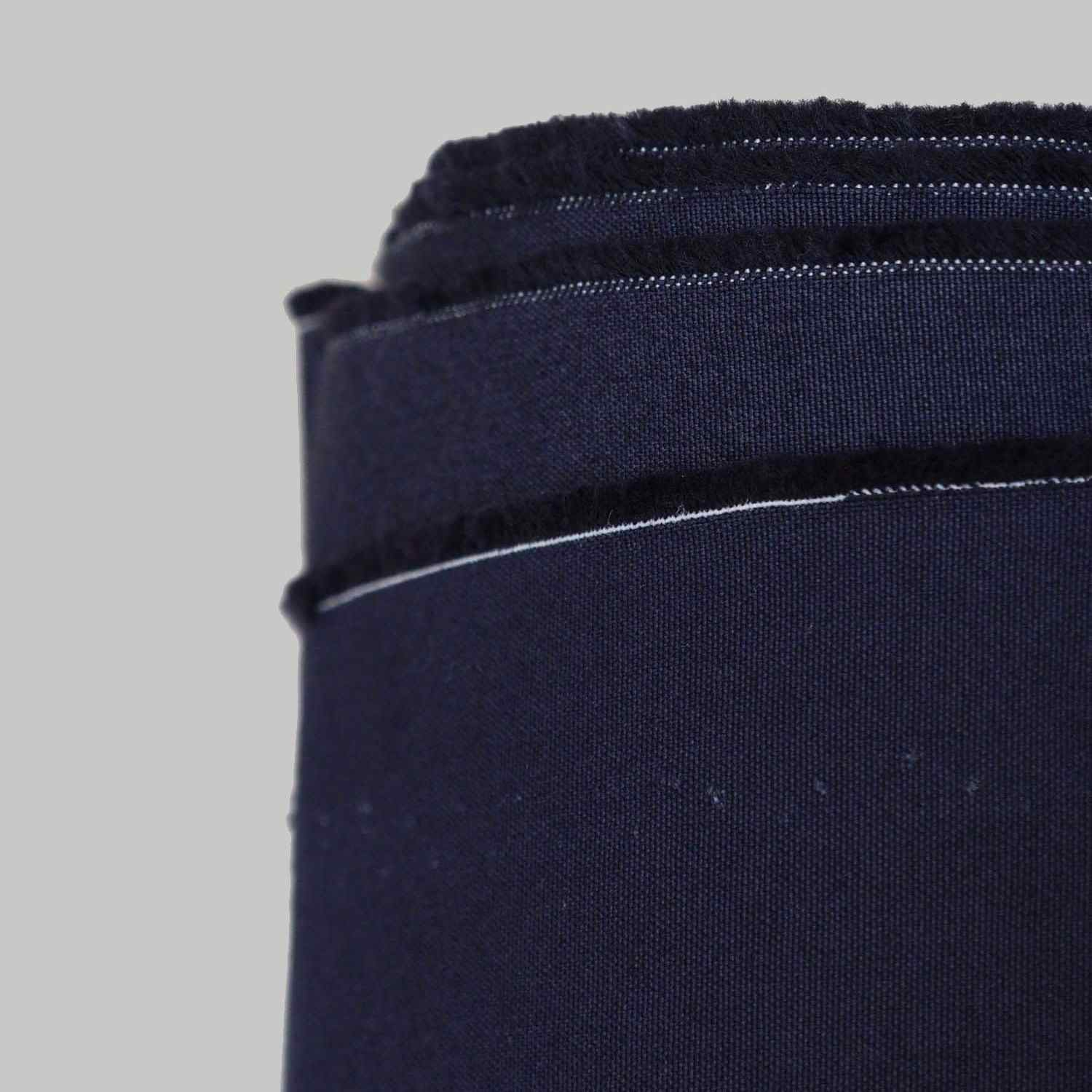 100% Cotton Plain Weave Fabric Dark Navy