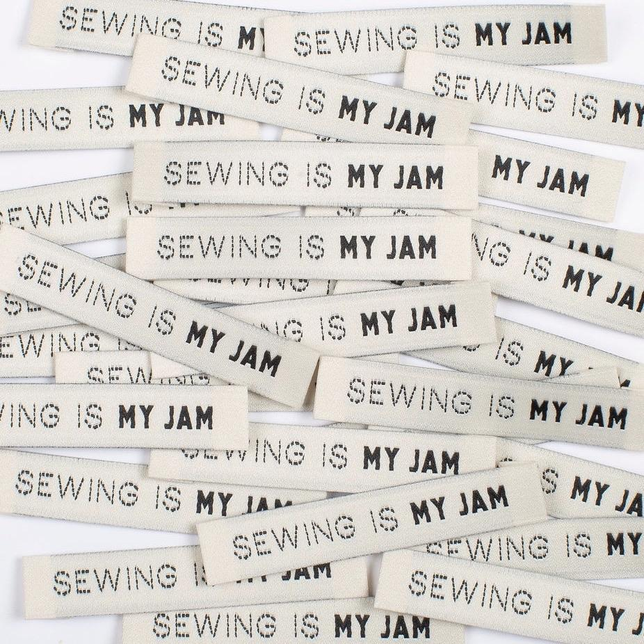 Kylie and the Machine Sewing is my Jam Woven Labels