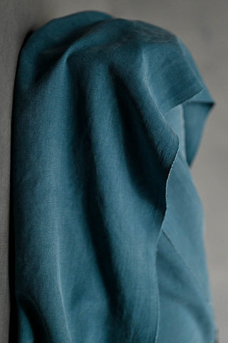 Merchant and Mills Tencel Twill Sewing Fabric Speak Easy Petrol Blue